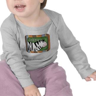 Camiseta animal de la cebra del tema de la