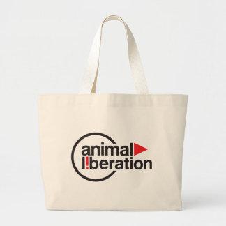 Camiseta animal de la liberación bolsa tela grande