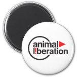 Camiseta animal de la liberación imán redondo 5 cm