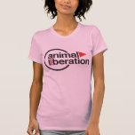Camiseta animal de la liberación playeras