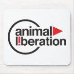 Camiseta animal de la liberación tapete de ratones