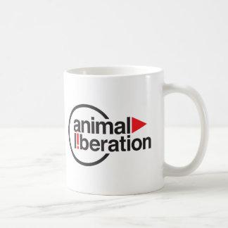 Camiseta animal de la liberación tazas de café