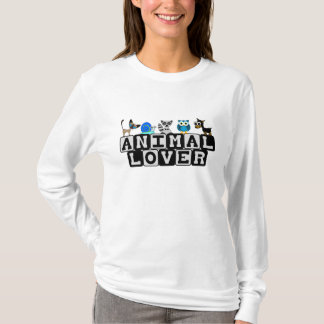 Camiseta animal de Longsleeve del amante