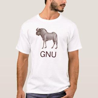 Camiseta animal del GNU - Wildebeest - frente y