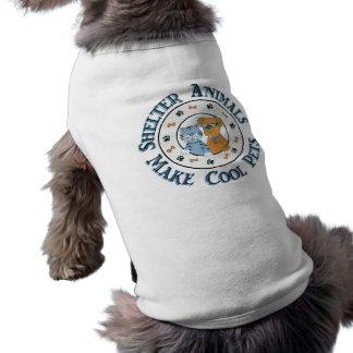 Camiseta animal del mascota de la ayuda del rescat playera sin mangas para perro