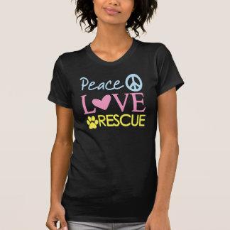 Camiseta animal del rescate del rescate del amor remera