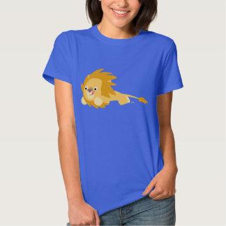 Camiseta animosa linda de las mujeres del león del remeras