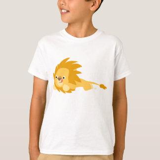 Camiseta animosa linda de los niños del león del poleras