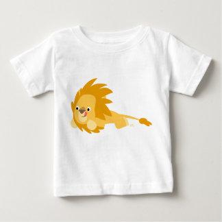 Camiseta animosa linda del bebé del león del polera