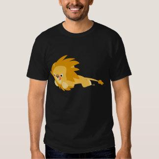 Camiseta animosa linda del león del dibujo animado playeras