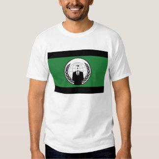 Camiseta anónima de la bandera camisas