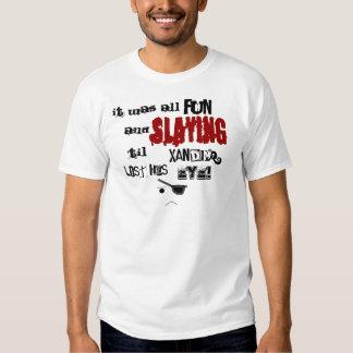 Camiseta anteada de Xander Playera