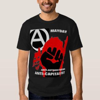 camiseta anti-autoritaria del primero de mayo del remeras