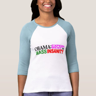 "camiseta anti del experimento de Obama ""Obama"""