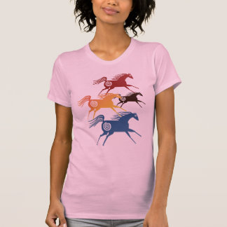 Camiseta antigua de los caballos