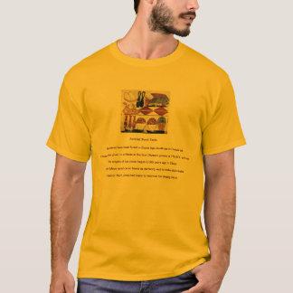 Camiseta antigua de los hechos de la comida