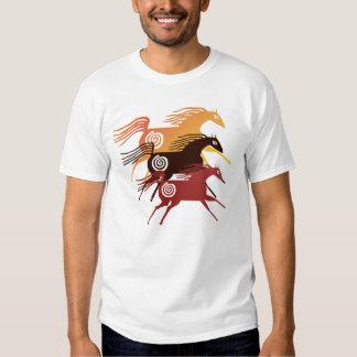 Camiseta antigua de tres caballos playeras