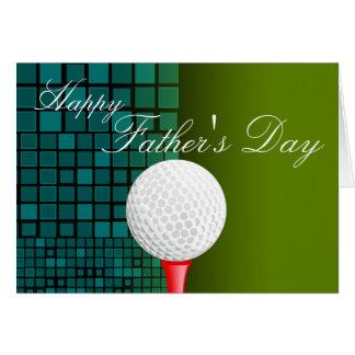 Camiseta apagado con golf feliz de la tarjeta del