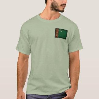 Camiseta apenada bandera de Turkmenistán