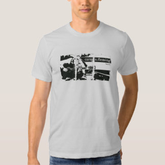 Camiseta apenada de American Apparel de las cajas Polera