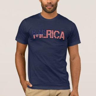 'Camiseta apenada de la BANDERA de MERICA los Playera