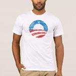 Camiseta apenada del logotipo de Obama O