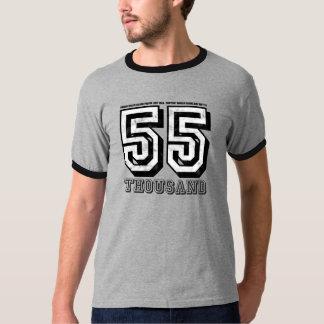 Camiseta apenada personalizable de la rabia 55K Polera