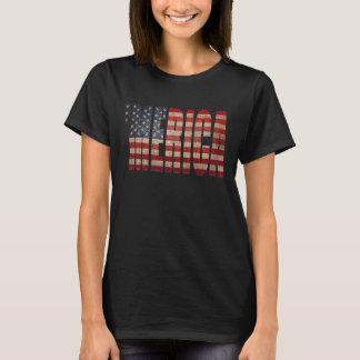 'Camiseta apenada vintage de la bandera de MERICA Playera