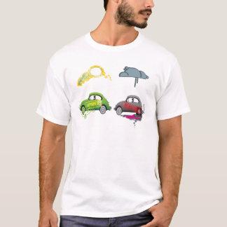 Camiseta aprobada y rechazada divertida del coche