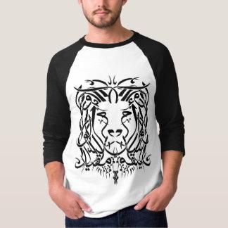 Camiseta árabe de la caligrafía del león (con