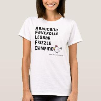 Camiseta Araucana WL de la raza del pollo