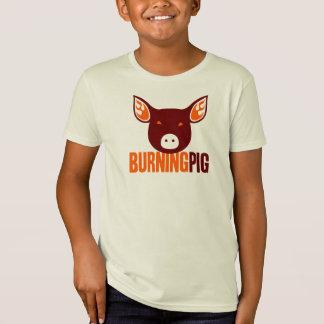 Camiseta ardiente del cerdo del niño