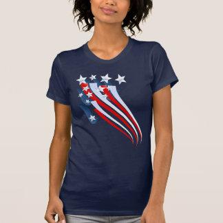 Camiseta arrebatadora de la bandera americana playeras