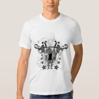 Camiseta artística del bodybuilder del Weightlifte Playera