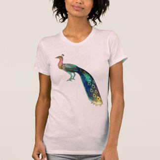 Camiseta artística del pavo real lindo polera