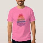 Camiseta artsy del diseño del árbol de los regalos poleras