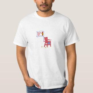 Camiseta ascendente de la silla del salvavidas de