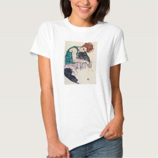 Camiseta asentada Schiele de la mujer de Egon Poleras