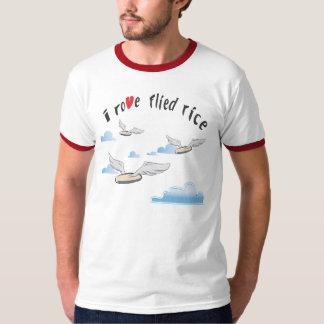 Camiseta asiática divertida - vago arroz volado playera