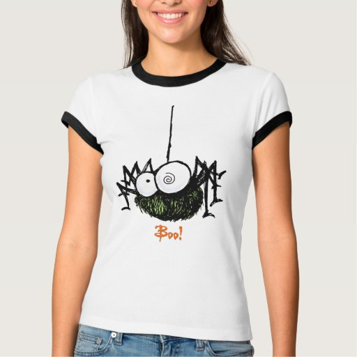 Camiseta asustadiza de Halloween de la araña Camisas