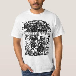 Camiseta asustadiza de Halloween de los esqueletos
