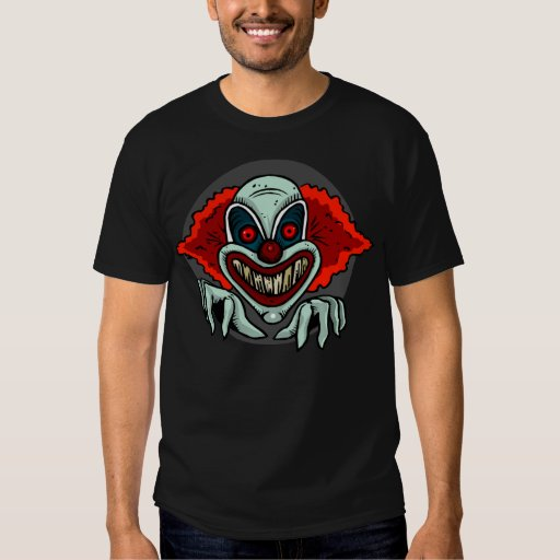 Camiseta asustadiza del payaso poleras
