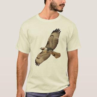 Camiseta atada rojo del halcón