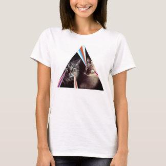 Camiseta atlética de los gatos del laser
