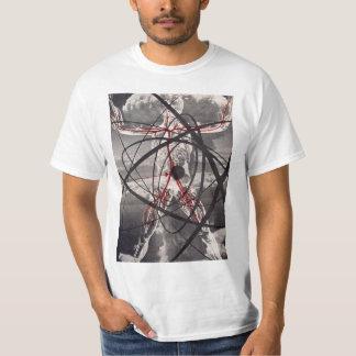 Camiseta atómica del vintage