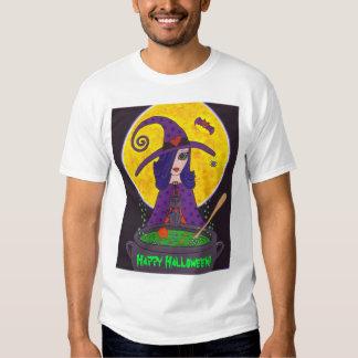 Camiseta atractiva de Halloween de la bruja Playeras