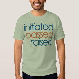 Camiseta aumentada pasajera iniciada del albañil poleras