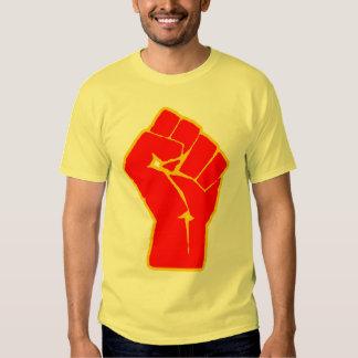 Camiseta aumentada revolucionario del puño polera