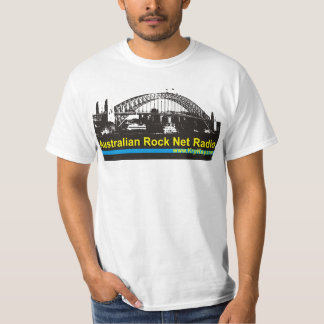 Camiseta australiana del blanco de la radio de la remeras