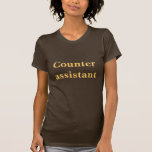 Camiseta auxiliar contraria del café.
